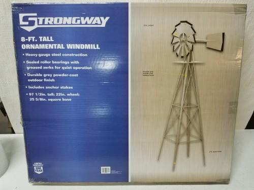 Strongway Ornamental Garden Windmill U2014 8ft.H, Gray