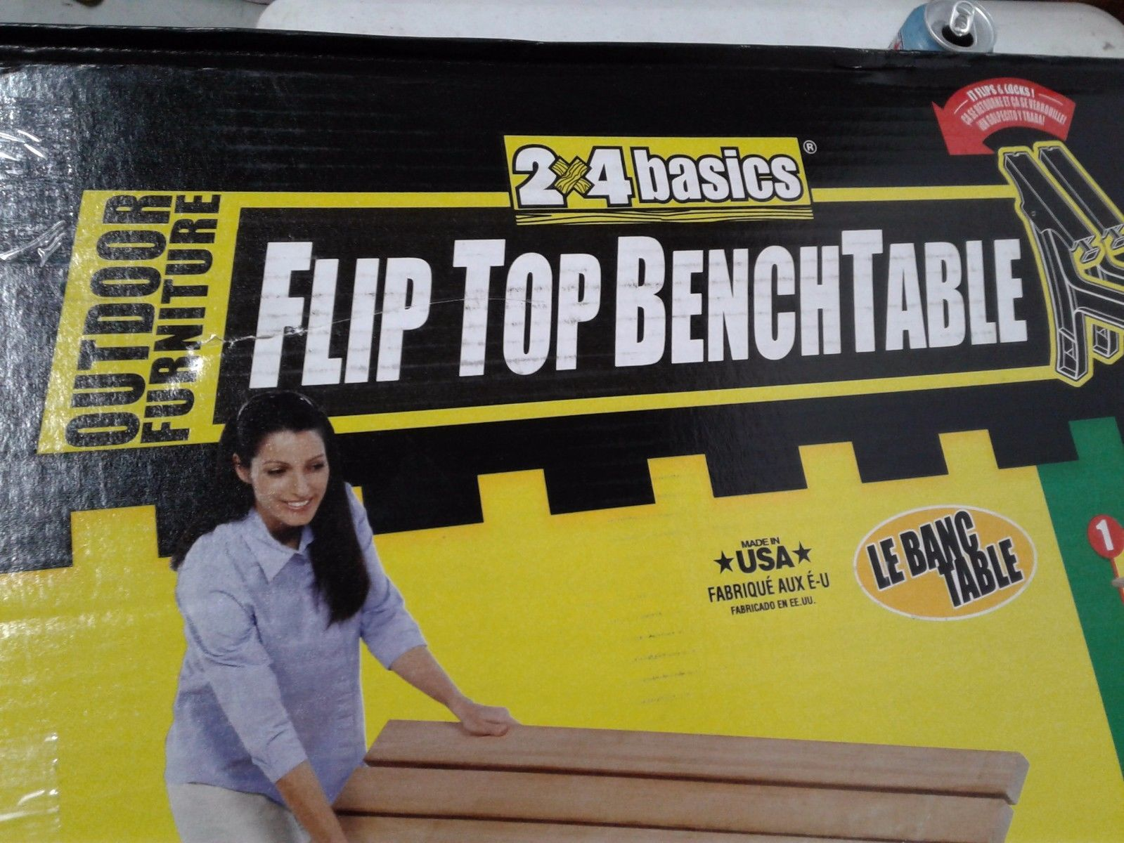 2x4 Basics Flip Top Benchtable Sand Model 90110