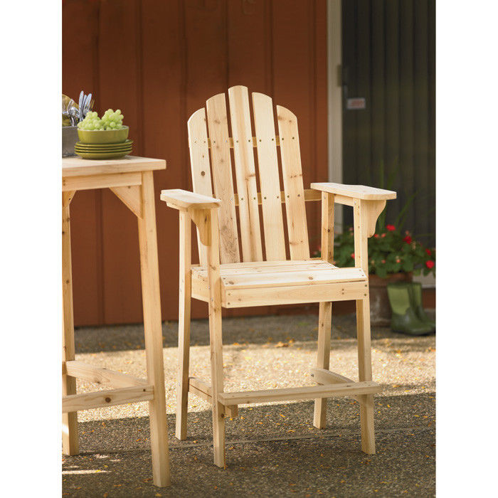 H M. ?; ?  sc 1 st  Yoder Tools & Stonegate Designs Tall Wooden Adirondack Chair u2014 30in.L x 25 1/2in.W ...