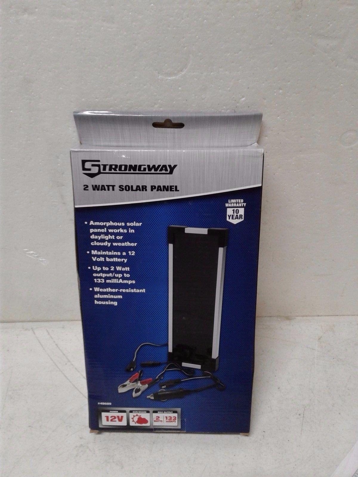 Amorphous Solar Panel Battery Maintainer Kit 2 Watts Yoder Tools