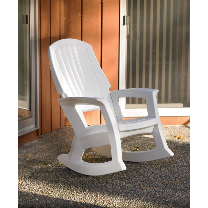 Awe Inspiring White Outdoor Rocking Chair 600 Lb Capacity Bralicious Painted Fabric Chair Ideas Braliciousco