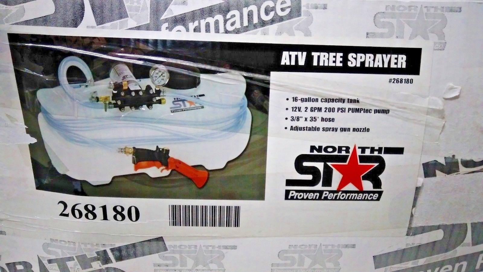 High-Pressure ATV Tree Sprayer — 16 Gallon, 2 GPM, 12 Volt