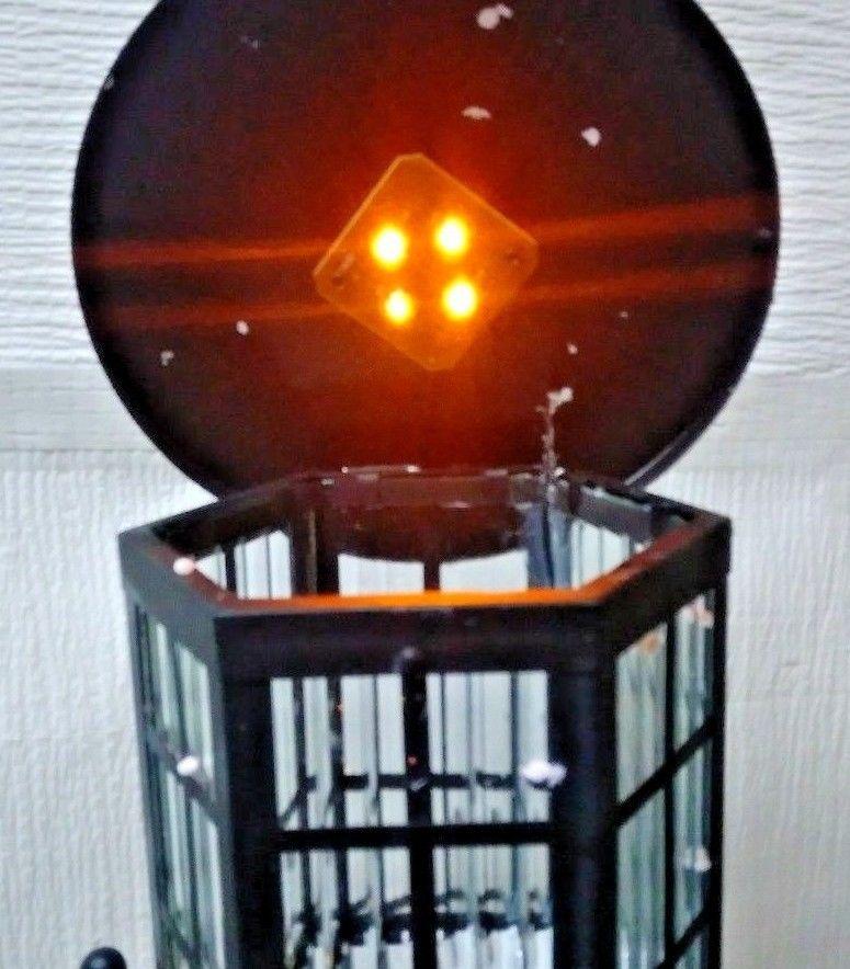 Solar Powered Lighthouse Garden Decor 35in H Gray