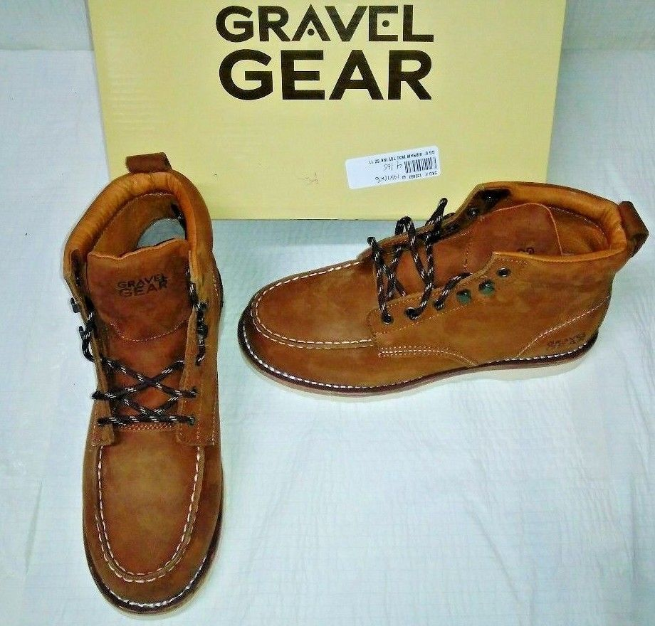 562cbe4d25f Gravel Gear Men's 6in. Vibram Moc Toe Work Boots - Brown